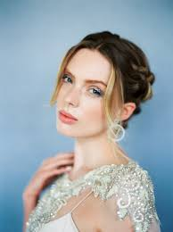 bridal hairstyle for gown glitter makeup u0026 hair ideas wedding hairstyles trendy bride blog