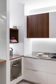 office kitchen furniture small contemporary kitchen makes room for home office and laundry