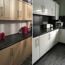 white gloss kitchen cupboard wrap kitchen rev using glossy white sticky back plastic