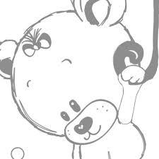 stickers nounours pour chambre bébé sticker chambre bebe nounours parapluie ex2 jpg