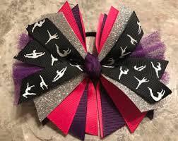 ribbon for hair that says gymnastics gymnastics hair bow gymnast hair bow red gymnastics bow