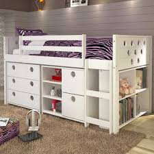 circles twin loft bed with storage white u2013 fun rooms for kids