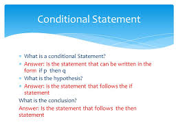 chapter conditional statements identify write and analyze the