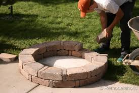 fire pit with seating diy rumblestone seat wall and fire pit kit installation