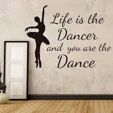 online get cheap ballerina silhouettes aliexpress com alibaba group dctop life is the dances and you are the dance wall stickers home decor nursery elegant