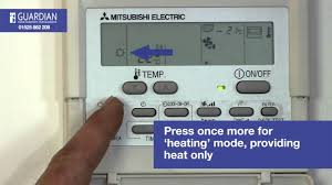 mitsubishi electric ac remote mitsubishi air conditioning control panel how to guide youtube