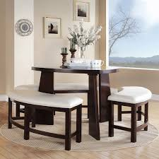Kitchen Table With Bench Seating And Chairs - triangle kitchen table with bench and white curved seating set and