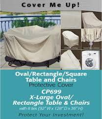 Oval Table Covers Outdoor Furniture by Furniture Covers Xl Oval Rectangle Table Cover