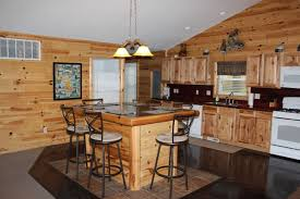 Lake House Kitchen by Little Bear Lake House Gaylord Michigan Vacation Rentals