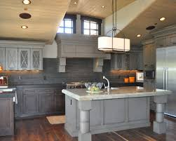 Grey Cabinets In Kitchen Distressed Grey Cabinets Houzz
