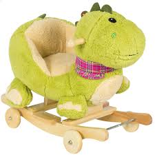 Rocking Chair Tab Kids Dragon Animal Rocker W Wheels Children Ride On Dinosaur Toy