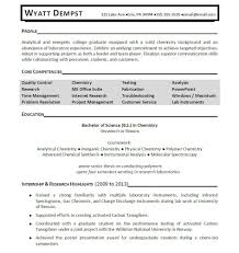 Resume Core Qualifications Examples by Chemist Sample Resume Haadyaooverbayresort Com