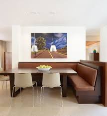 miami dining room booth modern with built in faux leather benches