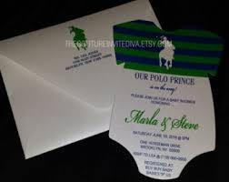 polo themed baby shower polo invitation etsy
