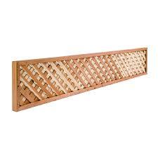wood lattice wall shop redwood lattice top wood fence panel common 8 ft x 6 ft
