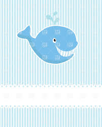 funny cartoon whale in light blue colors vector image 22435