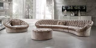 Round Sofa Chair Living Room Furniture Furniture Monogram Patterned Chair And Ottoman By Plummers