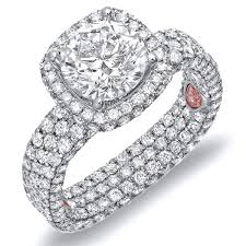 diamond studded diamond studded engagement ring demarco bridal jewelry official
