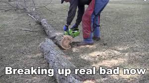 poulan s25cva chainsaw youtube