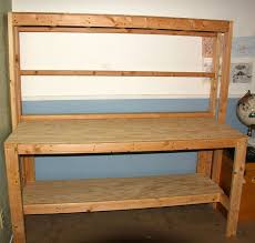 Plans For Making A Wooden Workbench by Simple Wooden Workbench 11 Steps With Pictures