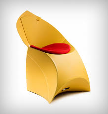 Flexible Love Folding Chair by Hello Wonderful This Origami Furniture Chair For Kids Is