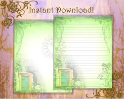 writing stationery paper fairy door stationery page green stationery fairy zoom