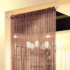 Curtain Wire Room Divider Beaded Curtains Bamboo Crystal And Metal Ebay