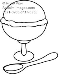 ice cream sundae coloring page royalty free clip art image