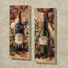 wine themed kitchen ideas wine cellar 2 canvas set set of two inspiration