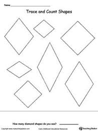 trace and count hexagon shapes hexagon shape worksheets and count