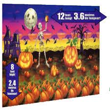 halloween scene setters haunted halloween cheerful pumpkin patch complete scene setter kit