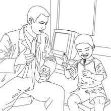 dentist coloring in coloring pages hellokids com