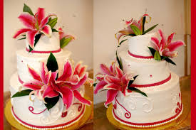 hector u0027s custom cakes wedding cake with fresh stargazers tiger