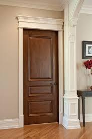 Wooden Interior Interior Door Custom Single Solid Wood With Walnut Finish