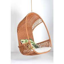 synthetic weave outdoor hanging pod chair col natural