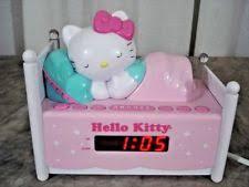 clock radio with night light hello kitty kt2052 alarm clock radio with night light and snooze ebay
