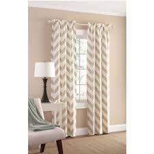 amazon com tan chevron panel pair 84 by mainstay home u0026 kitchen