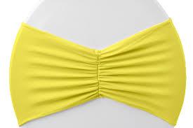 Spandex Chair Bands Ruffled Spandex Chair Band Bright Yellow At Cv Linens Cv Linens