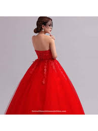 lace floral strapless corset closure floor length ball gown