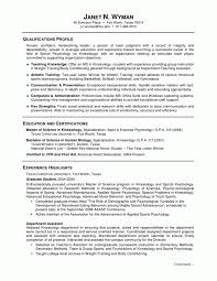 psychology undergraduate resume beautiful template with internship