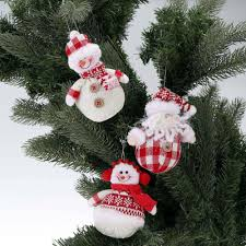 cute mini christmas ornaments dolls set santa claus snowman