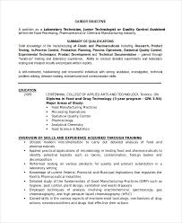 Dialysis Technician Resume Sample by Lab Technician Resume Template 7 Free Word Pdf Document