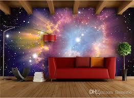 galaxy wall mural custom mural 3d room wallpaper european style galaxy cloud wall
