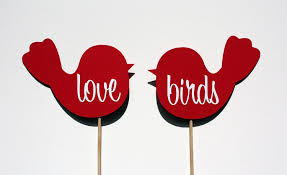 Wedding Photo Booth Ideas Set Of Love Birds Photo Booth Props 10 00 Via Etsy 16