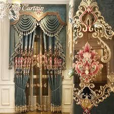 Valance Curtains Living Room Online Get Cheap Luxury Curtains Valances Aliexpress Com