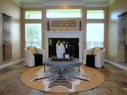 zebra print ceiling fan round jute rug living room eclectic with round jute rug slate tile