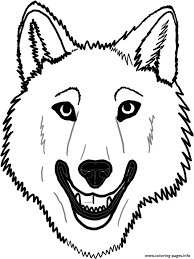 wolf mask coloring page kids drawing and coloring pages marisa