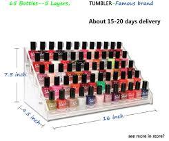 wholesale 6 tiers acrylic nail polish display cosmetic makeup nail