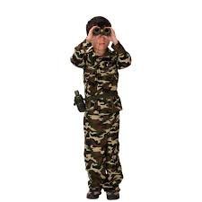 Kids Army Halloween Costume Boys Halloween Army Camouflage Uniform Costume Kids Soldier