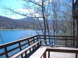 lakefront vacation cabin for rent on lake nantahala private dock
